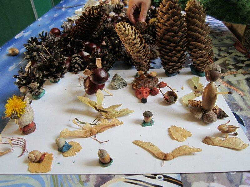Поделки из природного материала 2 года для детского сада