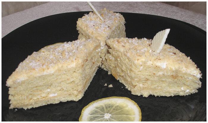 лимонный торт пирог фото рецепт
