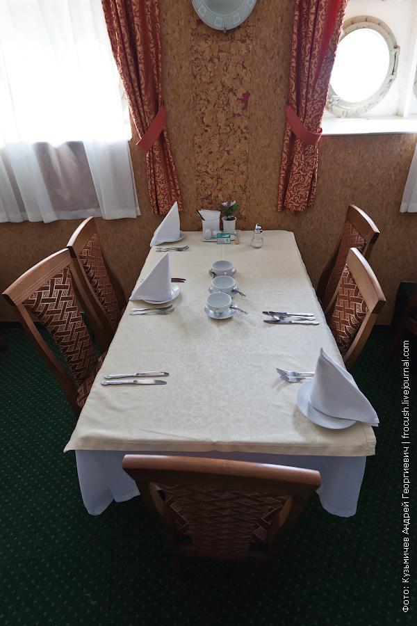 Ресторан на главной палубе теплоход Кулибин