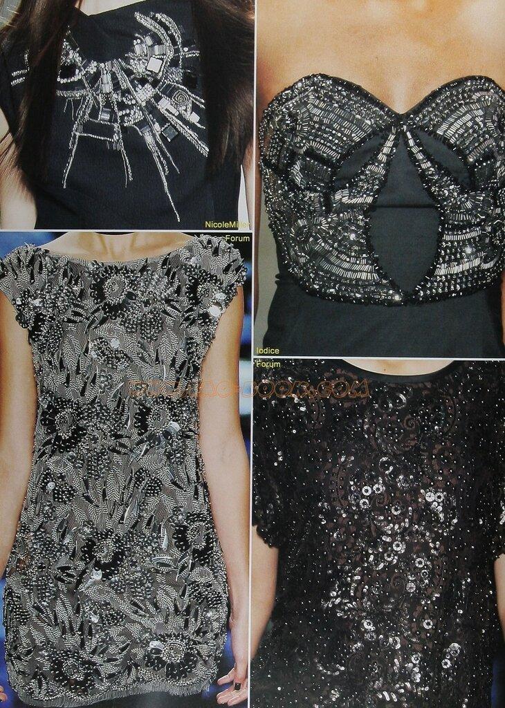 Как расшить платье камнями своими руками 36