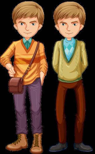 Картинки близнецов мальчиков нарисованные