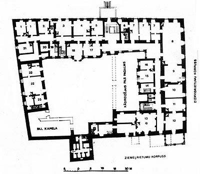План замка 1914 г.