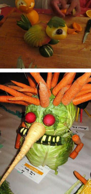 Подделки для детей из овощей