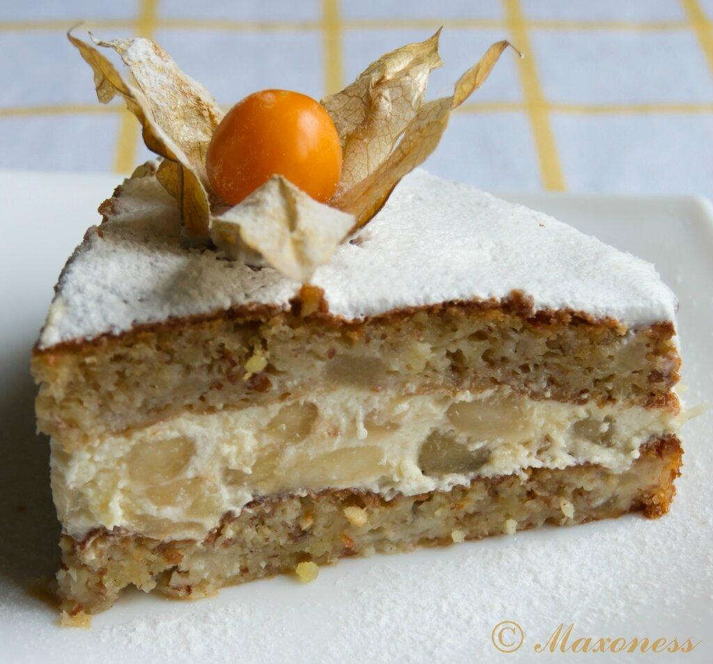 Орехово-грушевый торт