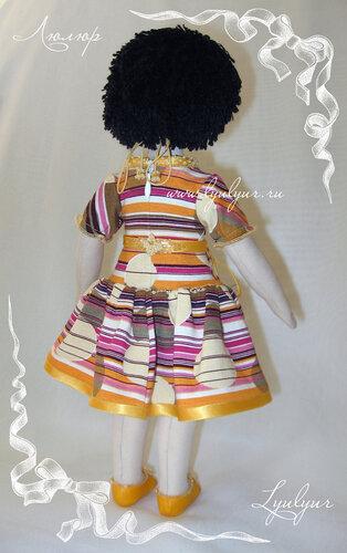 Текстильная кукла, голубоглазая кукла, кукла в желтом платье, девочка в желтом,голубоглазая девочка
