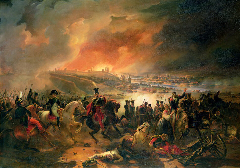 The Battle of Smolensk, 17th August 1812  Шарль ЛАНГЛУА.jpg