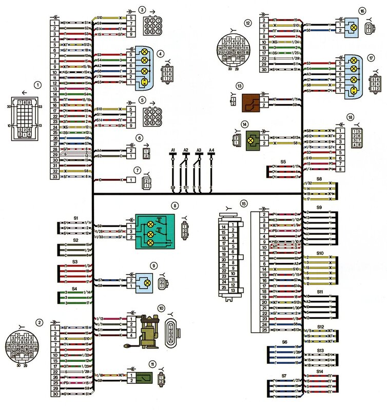 Электрическая схема ВАЗ — 2112