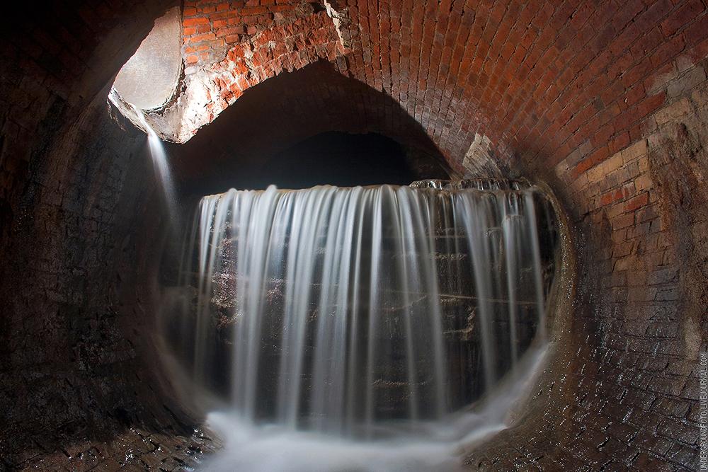 Река Рыбинка водопад