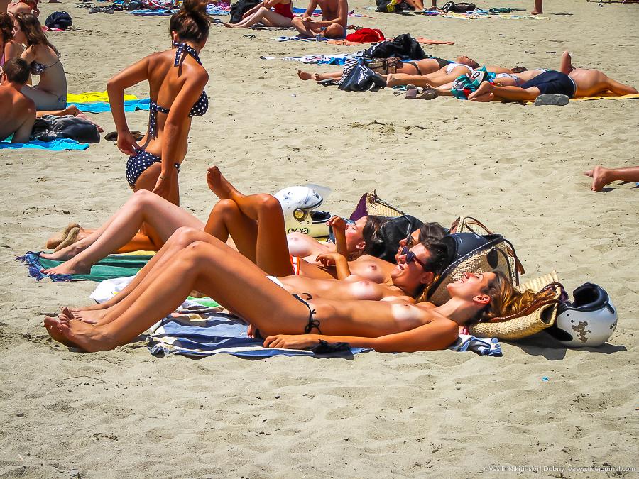 Фото нудисты в испании