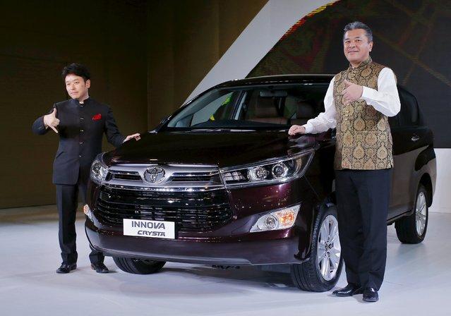 Toyota Kirloskar Motor's Managing Director Naomi Ishii and Chief Executive Engineer Hiroki Naka