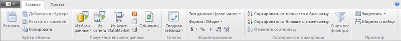 Рис. 10.3. Окно приложения PowerPivot