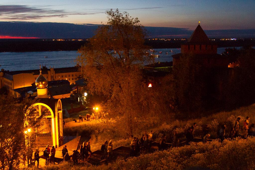 Вечер после салюта, Нижний Новгород