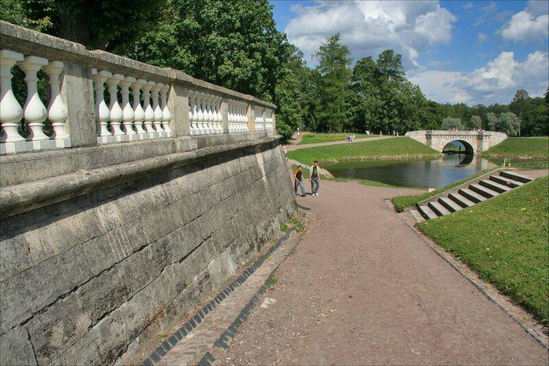 Гатчинский парк, Панорама в сторону Карпина моста