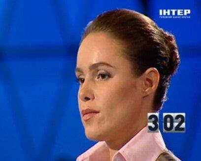 Наталья Королевская в телестудии Интер
