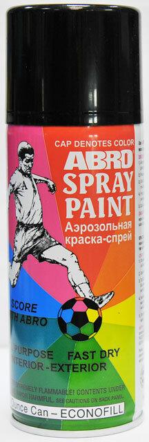 Краска спрей черная глянцевая А-011 Abro