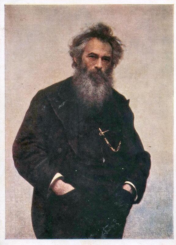 031. Шишкин 008.И.Н. Крамской (1837 - 1887). Портрет И.И. Шишкина. 1880 г.