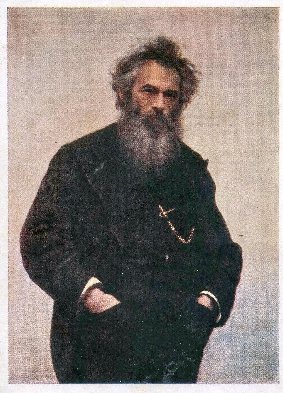 И.Н. Крамской (1837 - 1887). Портрет И.И. Шишкина. 1880 г.