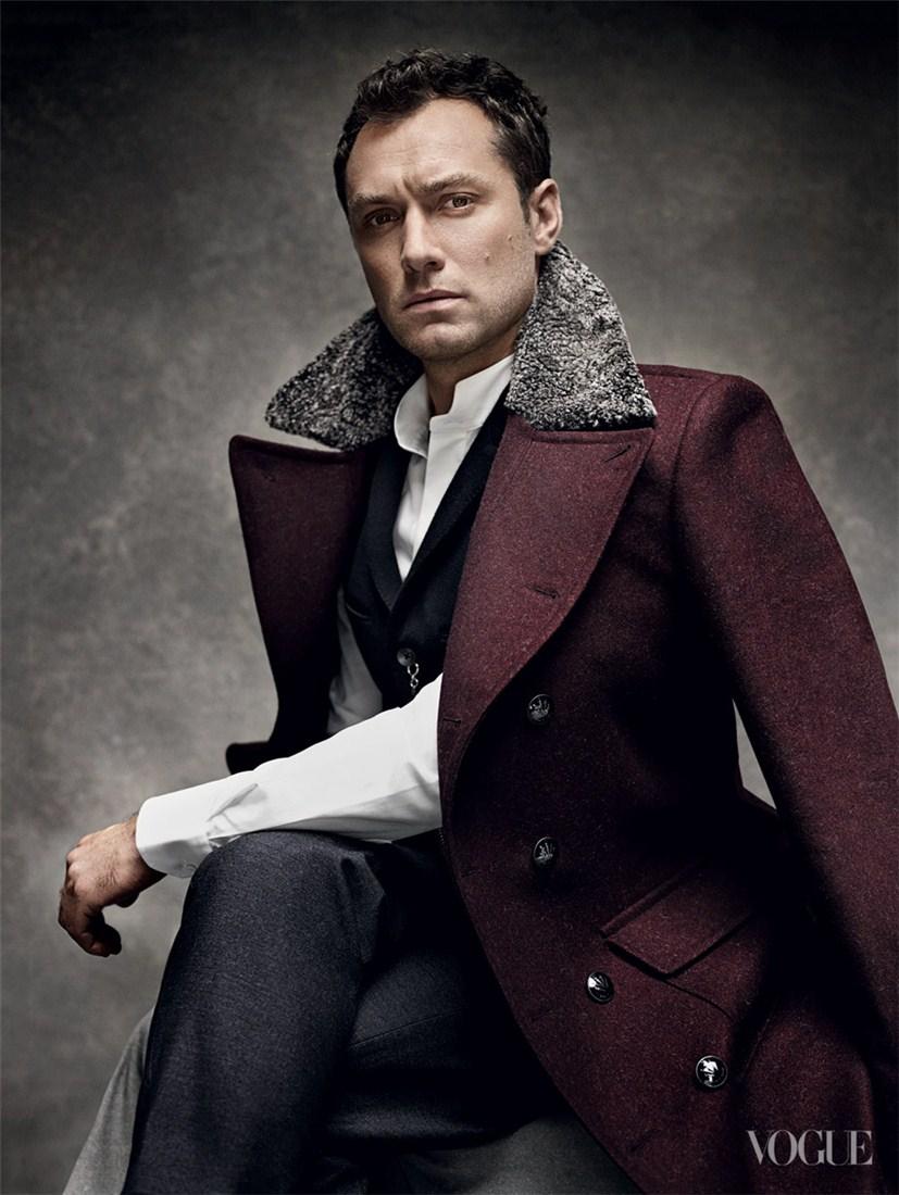 Jude Law / Джуд Лоу в образе мужа Анны Карениной в журнале Vogue US, октябрь 2012 / фотограф Mario Testino