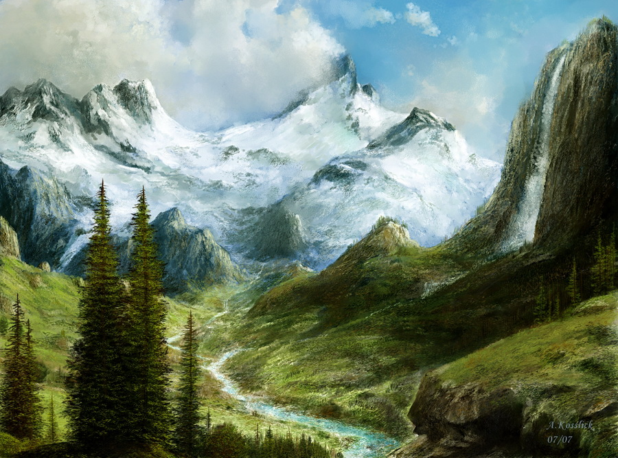 beauty of mountains