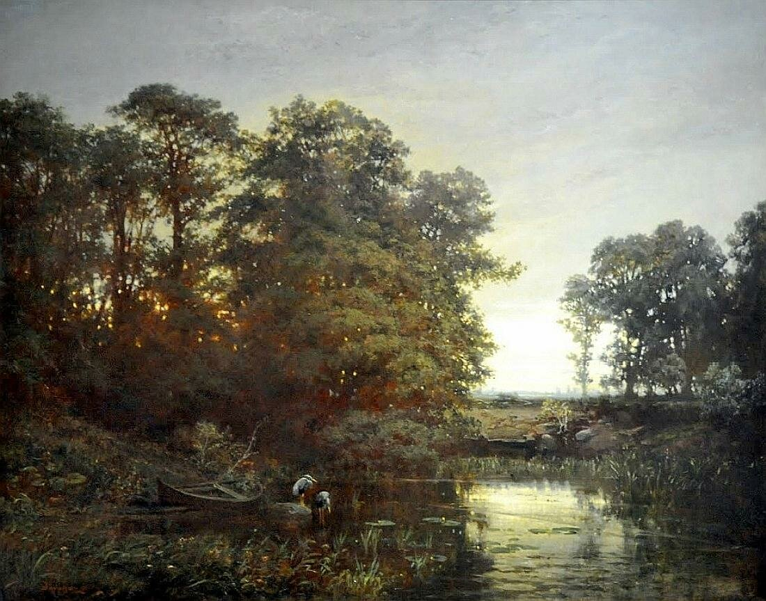 Пейзаж с прудом, 1861, масло на холсте, Добиньи, Шарль-Франсуа, National Museum, Warsaw