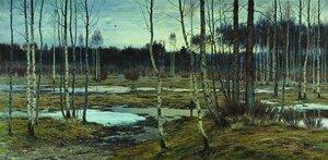 Берггольц,  Пробуждение весны. 1911 Акварель