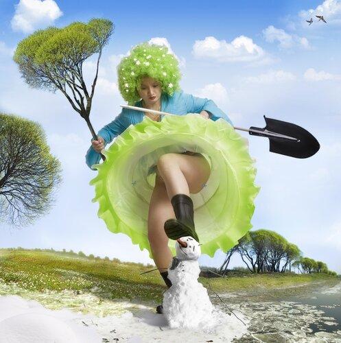 Девушка Весна в картинках и фото