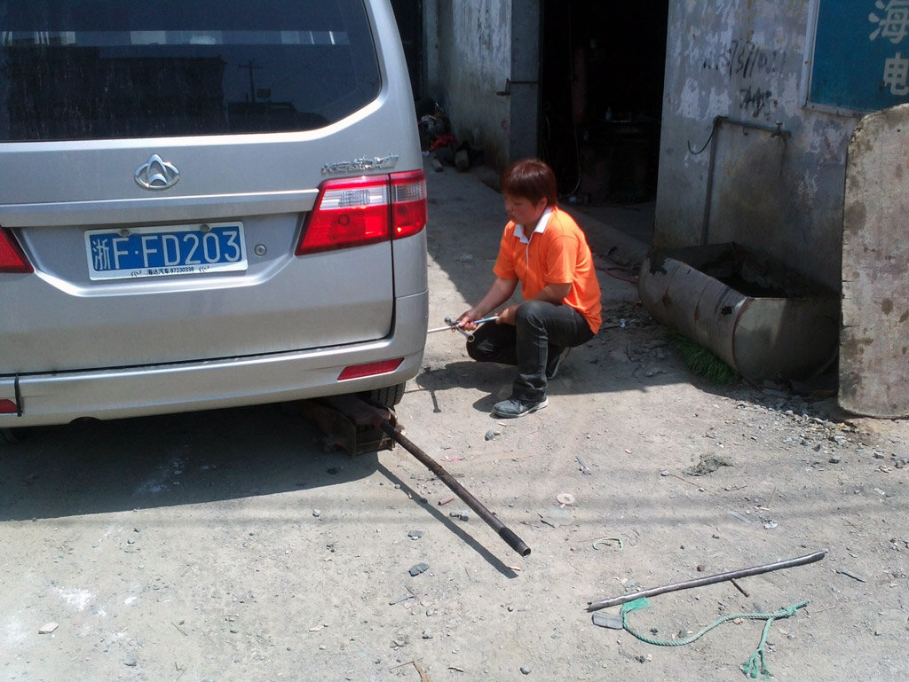 Шиномонтаж в Китае