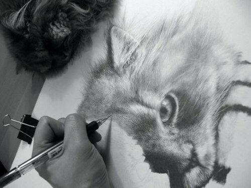 Необычные рисунки грифелем Пола Лунга