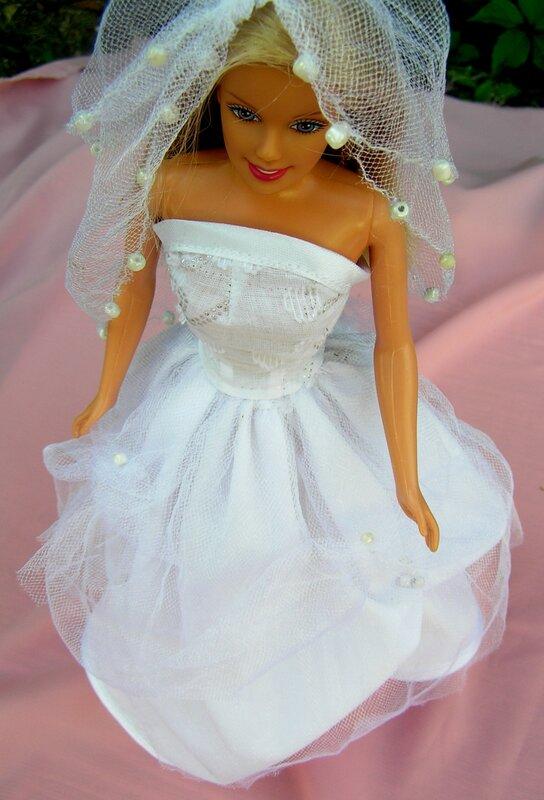 Как сшить для куклы барби с свадебных платьях 256