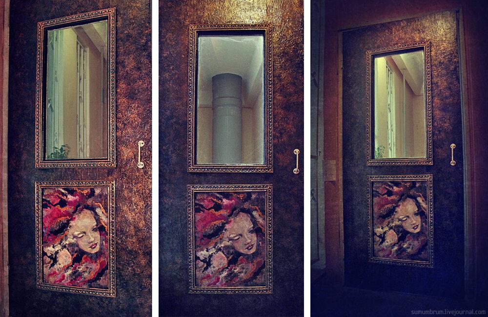 Как преобразить старую дверь своими руками фото