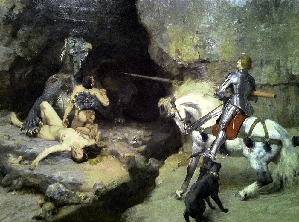 1888 Gustave Surand (France, 1860-1937) St. George and the Dragon (Saint Georges et le monstre) ..jpg