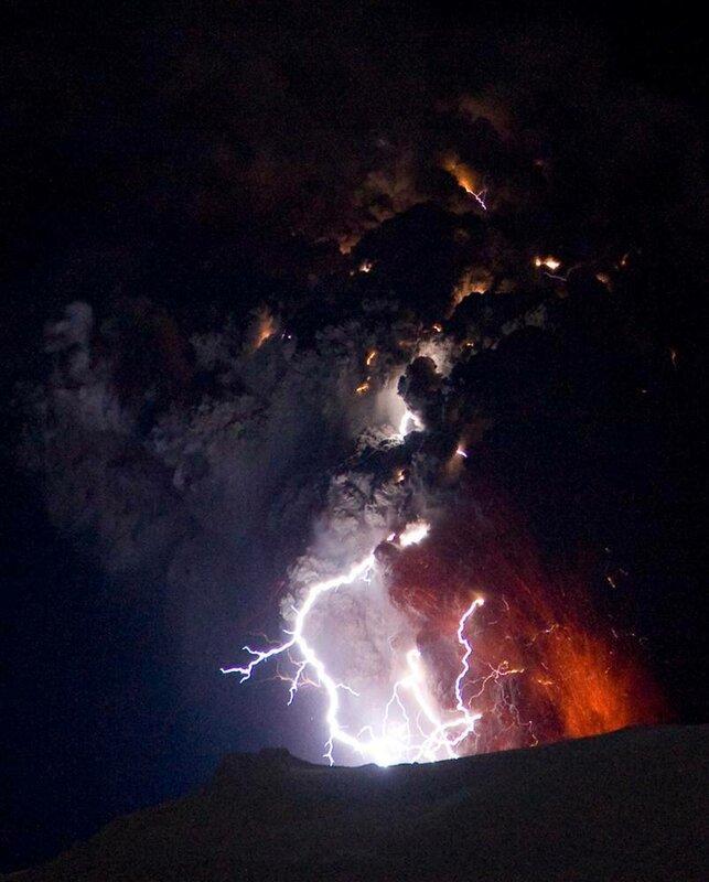 Молнии над вулканами