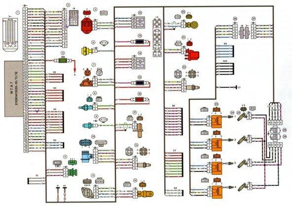Электрическая схема lada