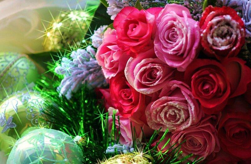Розы к празднику