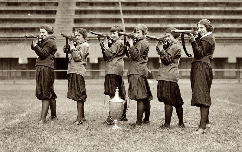 November 2, 1922. Washington, D.C. Girls' rifle team, Central High
