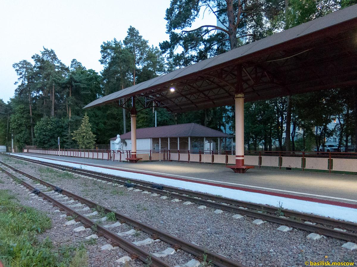 Московская детская железная дорога. Станция Юность.