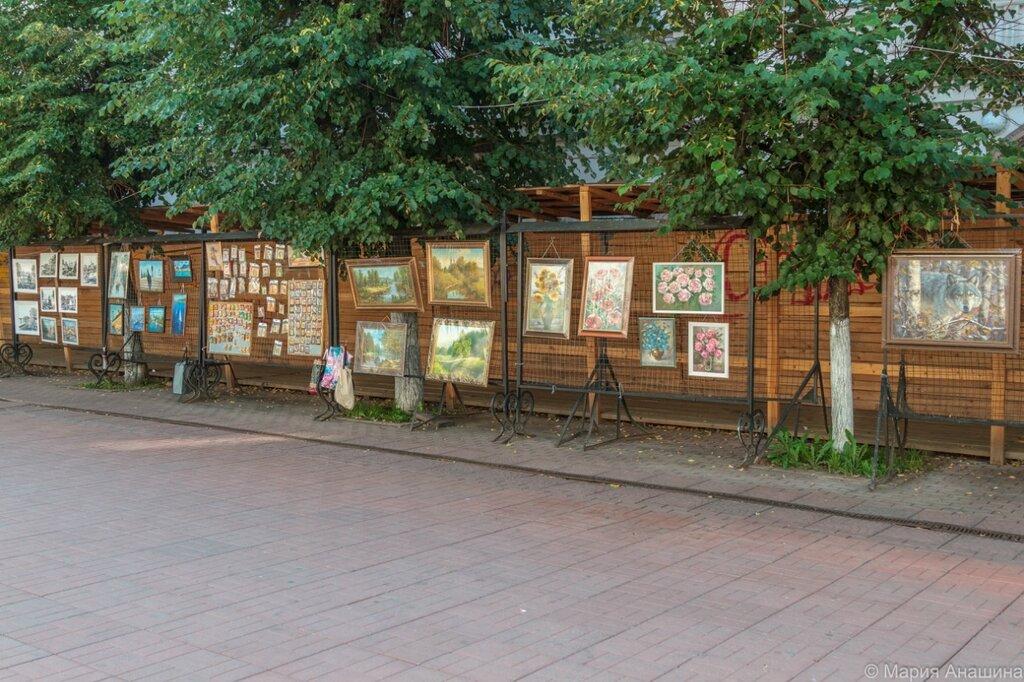 Выставка-продажа картин, Трехсвятская улица, Тверь