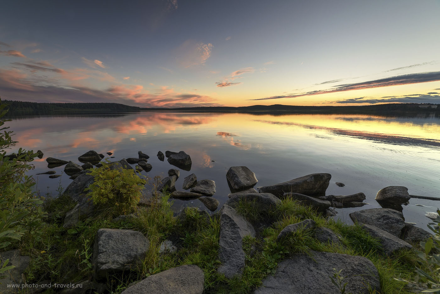 20. Пример пейзажа, снятого после захода солнца. Фотоаппарат Nikon D610, ширик Samyang 14/2.8