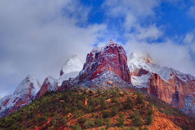 Возвратите туда,... где закат по вершинам стекает! Фотограф Kevin McNeal | Zion National Park