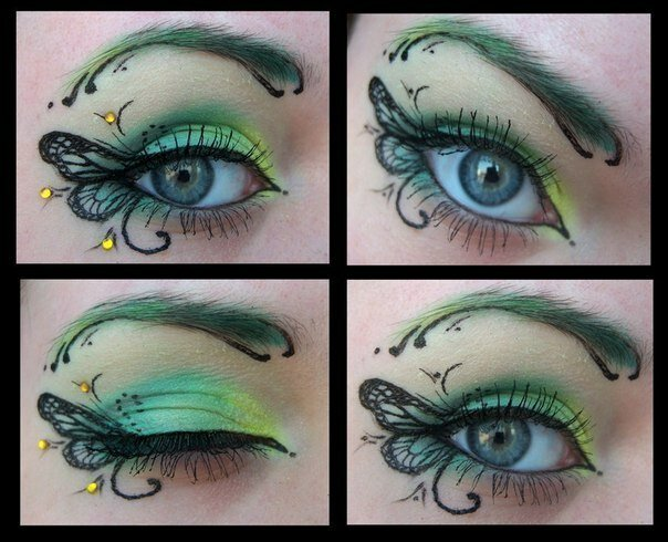 Рисунки макияжем на глазах