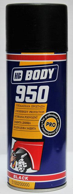 Антикор 950 чёрный спрей 0.4кг Body