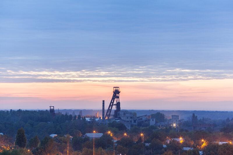 Виды на Донецк с террикона