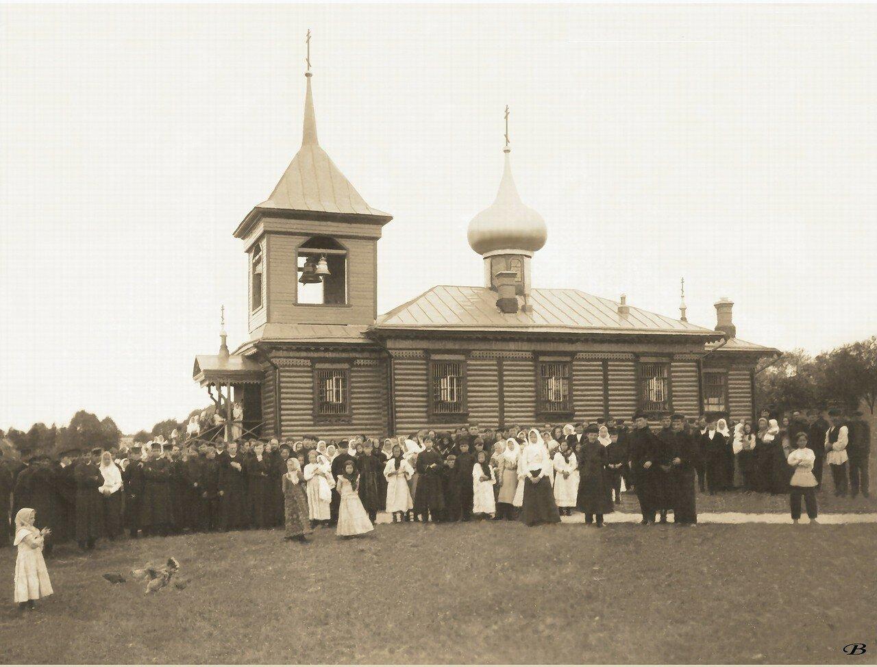 Окрестности Егорьевска. Церковь в деревне Хорлово. 1906