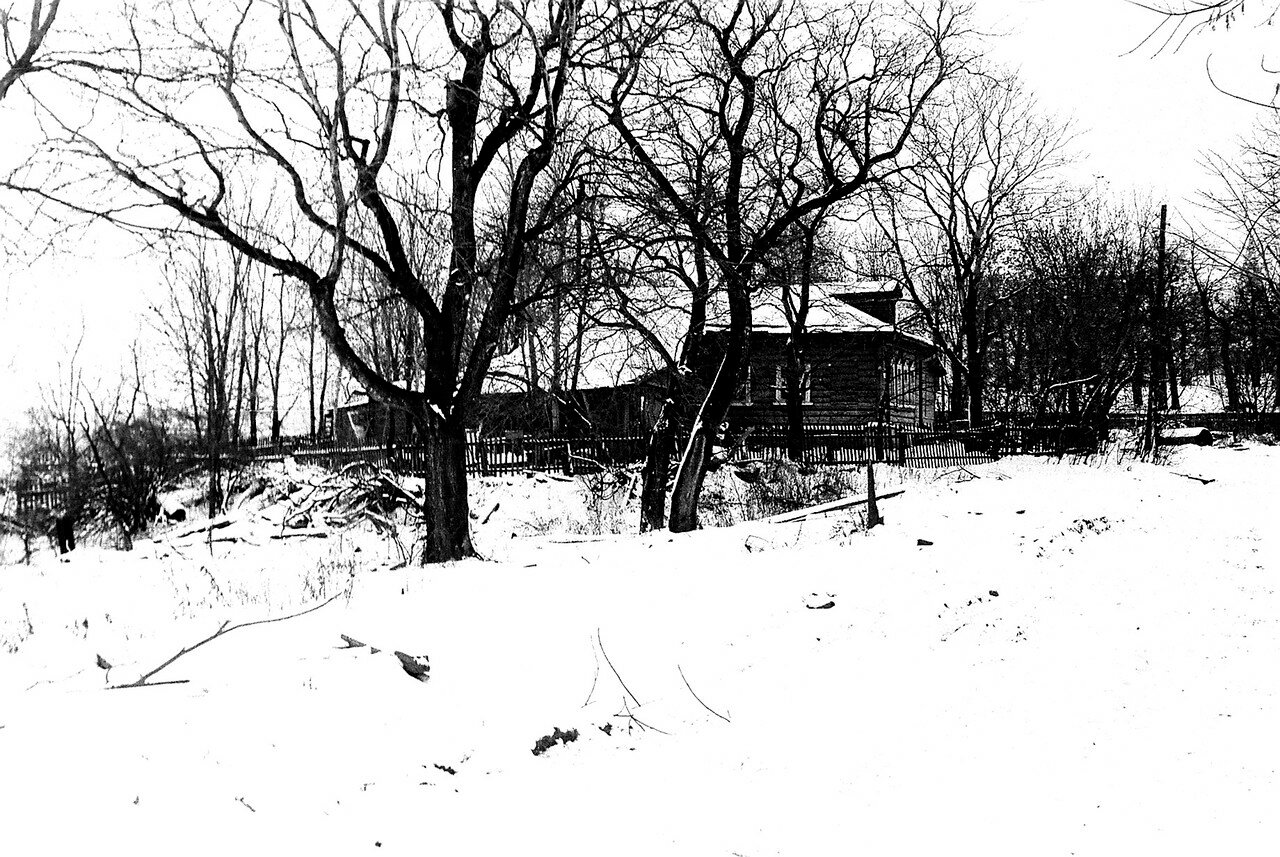 1981. Улица Нижняя, еще один вид на правление колхоза Огородный Гигант