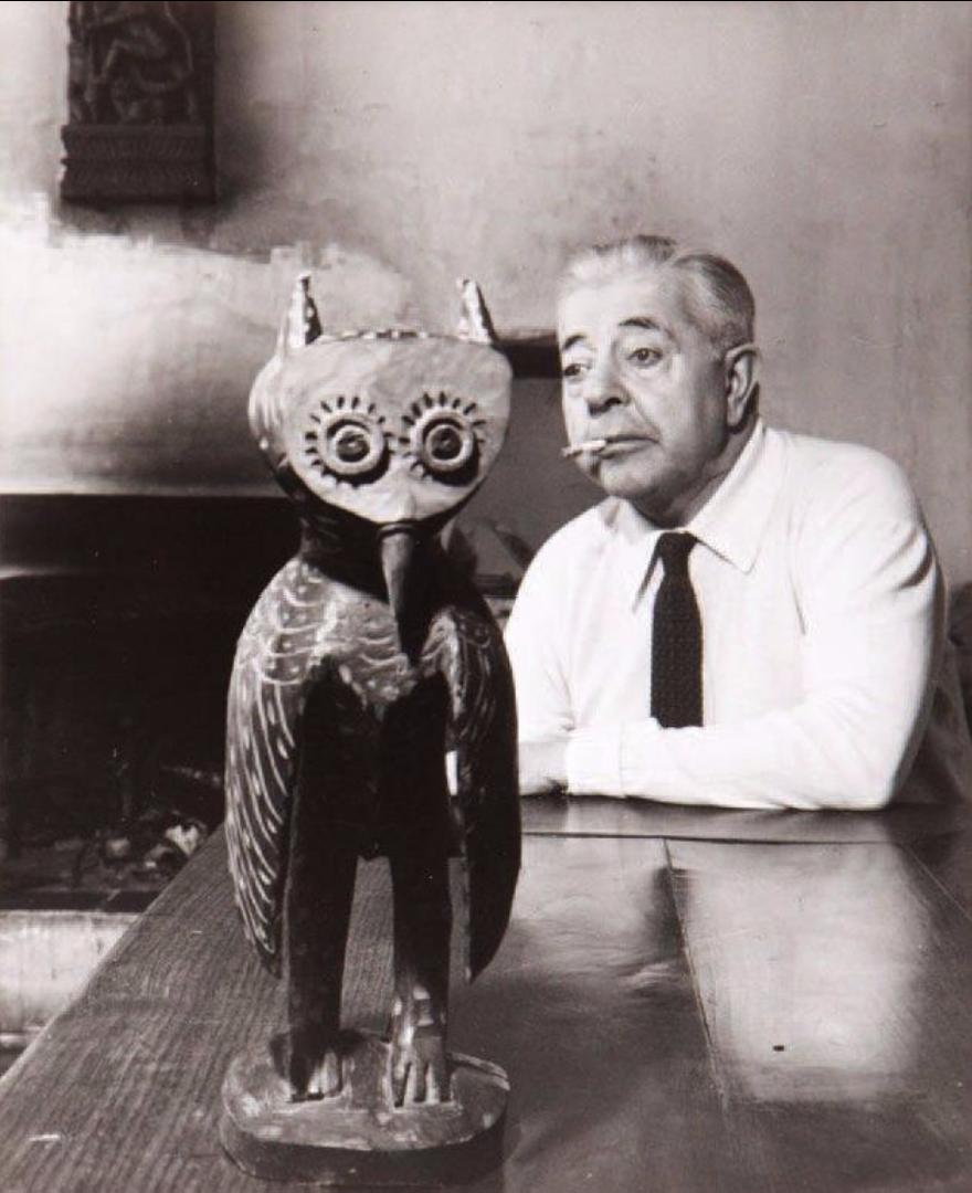 1950. Жак Превер с совой