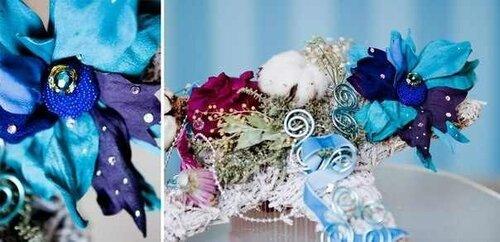 Цветочная тематическая композиция Нового года от Анастасии Фоминых, фото от неё же).  Брошь из сказочного новогоднего...