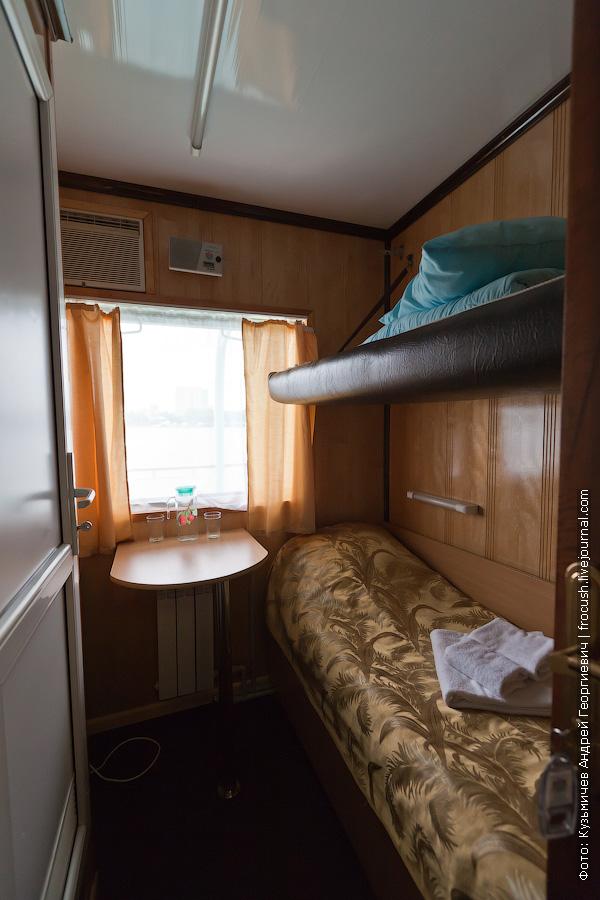 Двухместная ярусная каюта с удобствами №231 на средней палубе теплоход Иван Кулибин