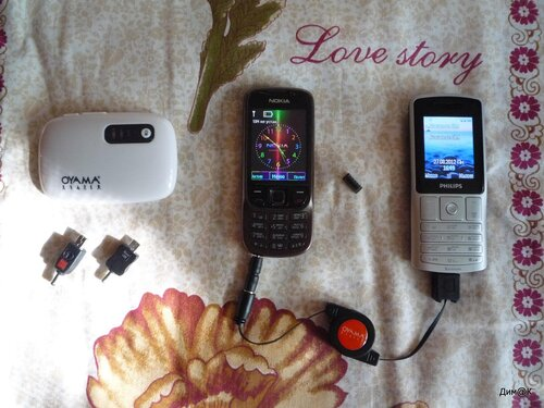 Philips X130 (зарядка другого телефона)