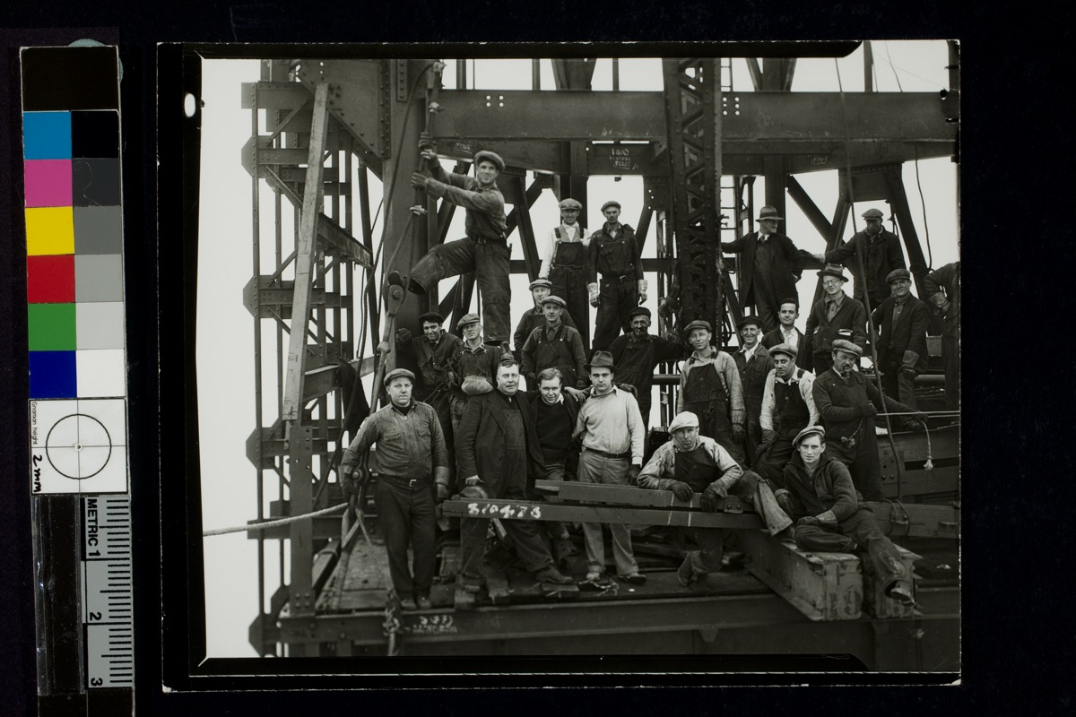 Group of workers, Empire State building, ca. 1931