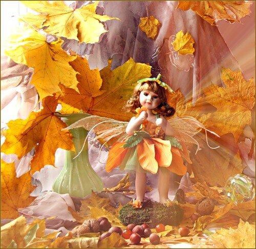 Как сделать платье для куклы из кленовых листьев